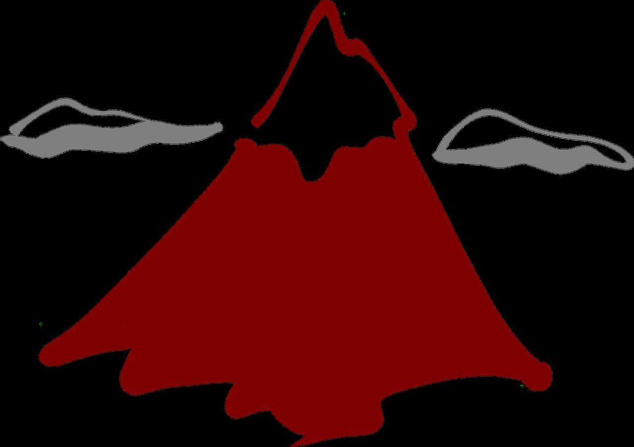 Dessin De Volcan En Couleur