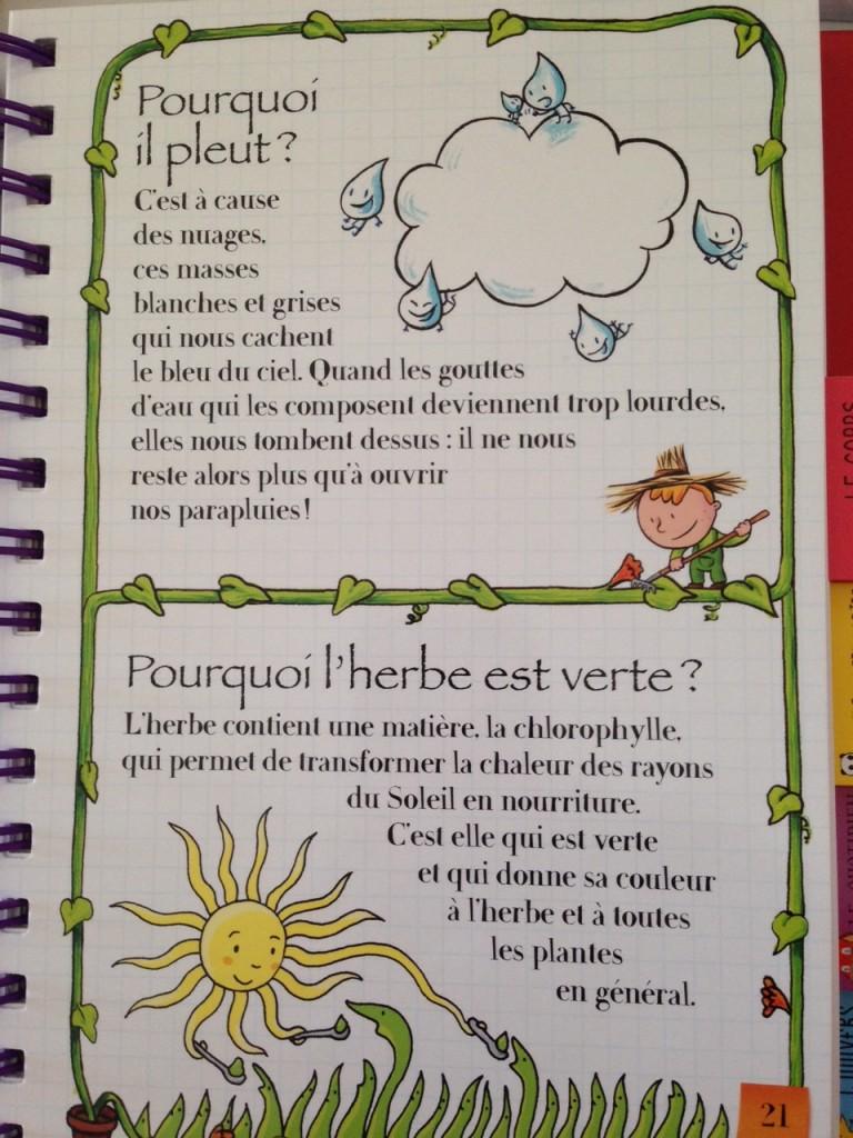 Dis moi pourquoi le livre pour r pondre presque toutes les questions des enfants - Pourquoi un coup de soleil gratte ...