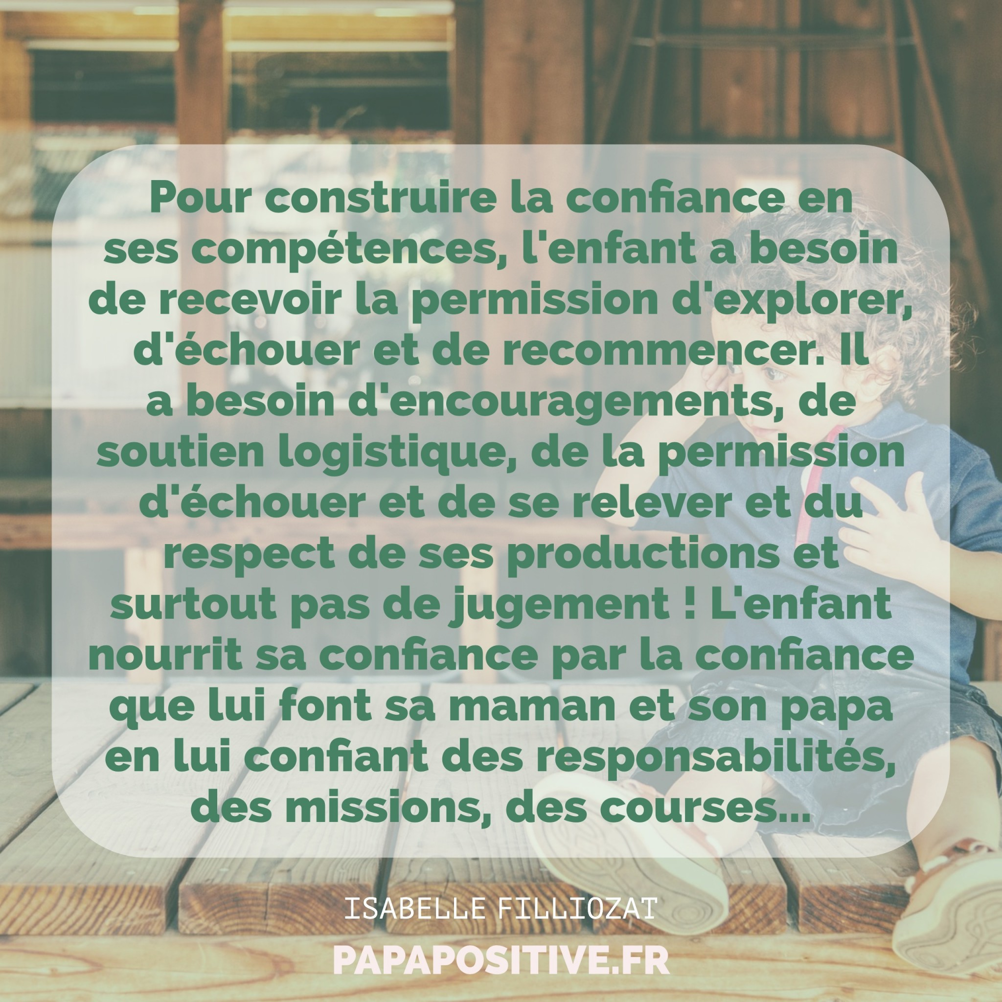 citation du jour et articles utiles confiance en soi des enfants. Black Bedroom Furniture Sets. Home Design Ideas