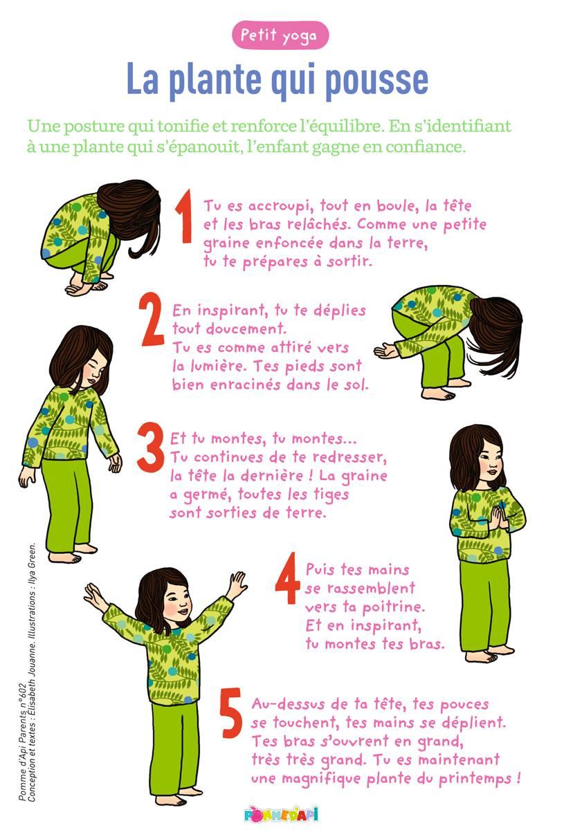 5 postures de yoga pour le bien tre des enfants. Black Bedroom Furniture Sets. Home Design Ideas