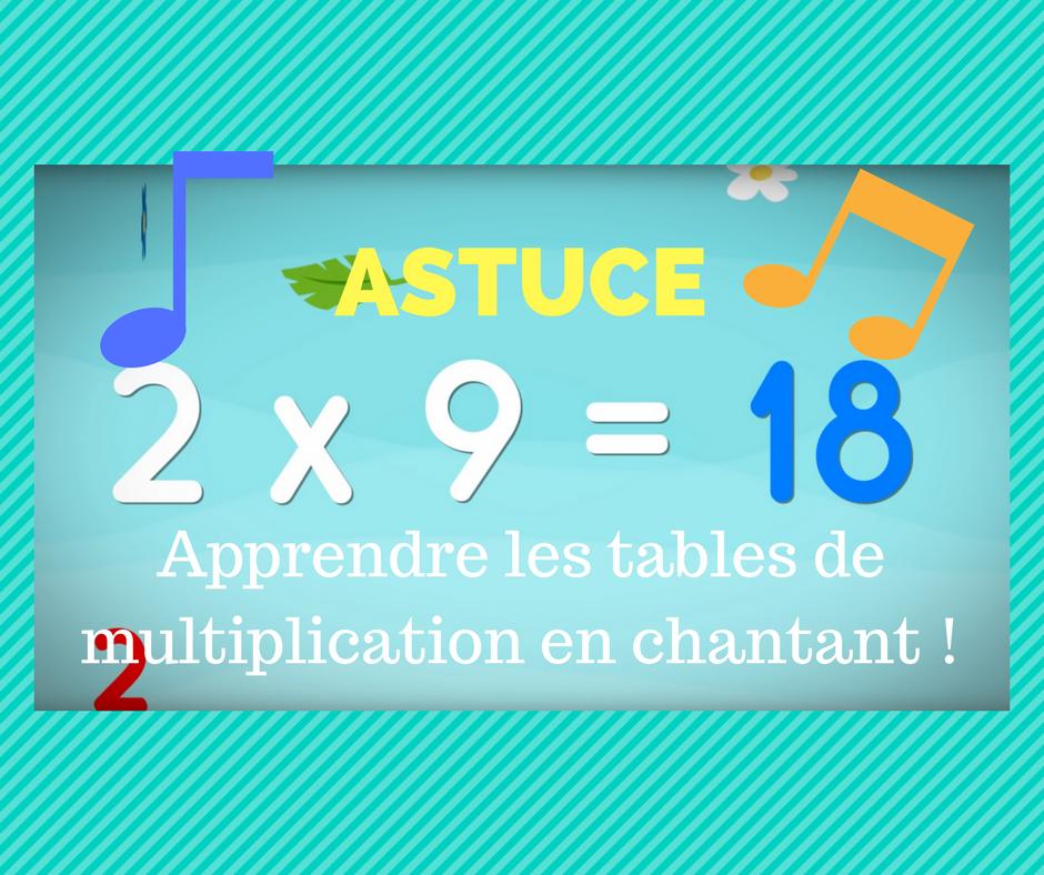 Astuce apprendre les tables de multiplication en chantant for Apprendre les table