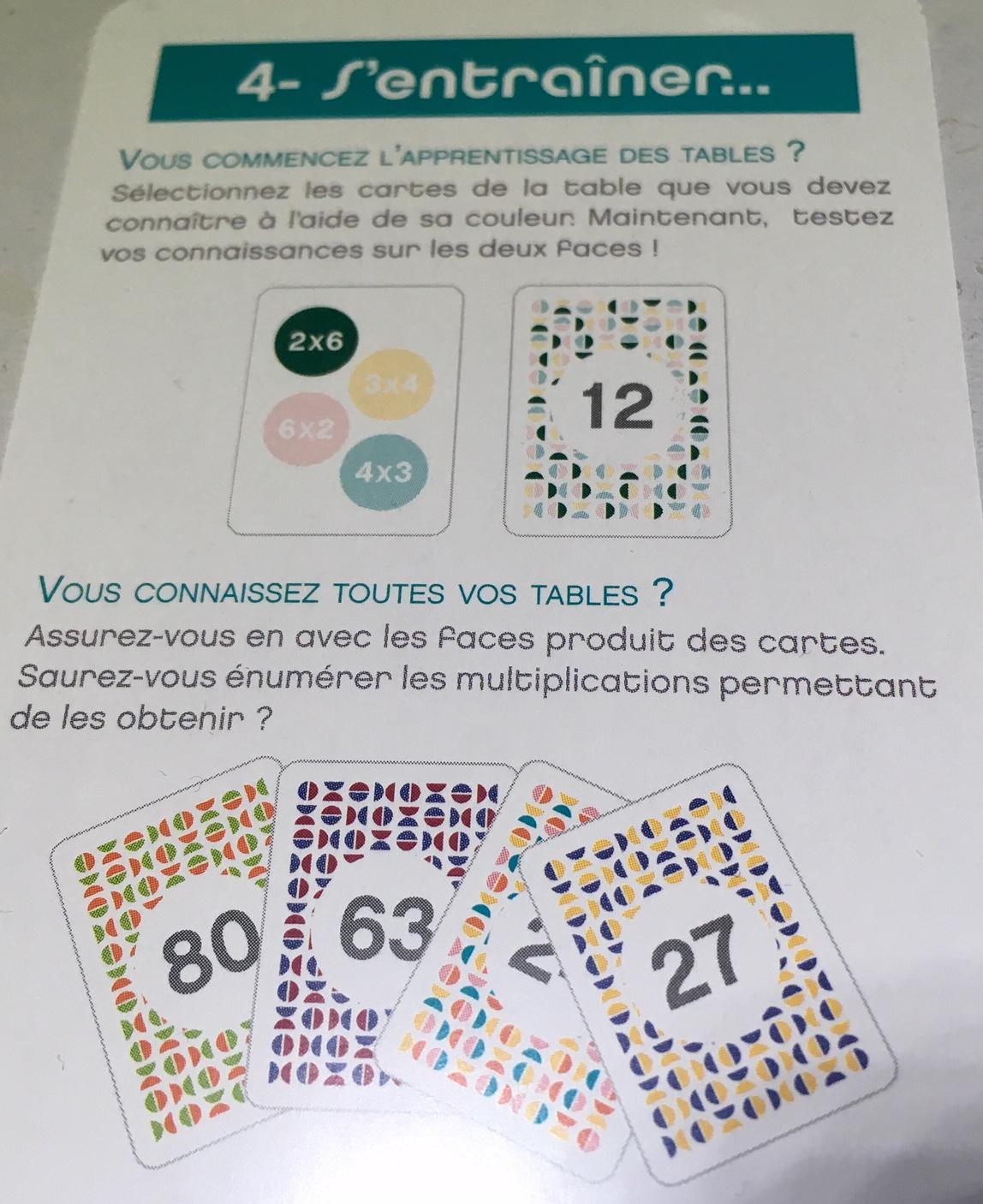 Objectif multiplication un jeu de cartes astucieux pour - Jouer avec les tables de multiplication ...