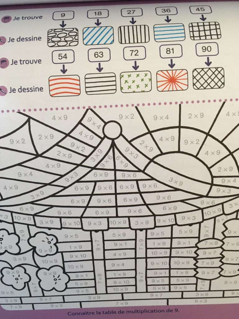 Coloriages magiques pour apprendre les tables d 39 addition for Apprendre les tables de multiplication cm2