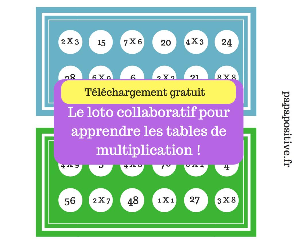 Le loto collaboratif des multiplications t l chargement - Jeu de table de multiplication gratuit ...