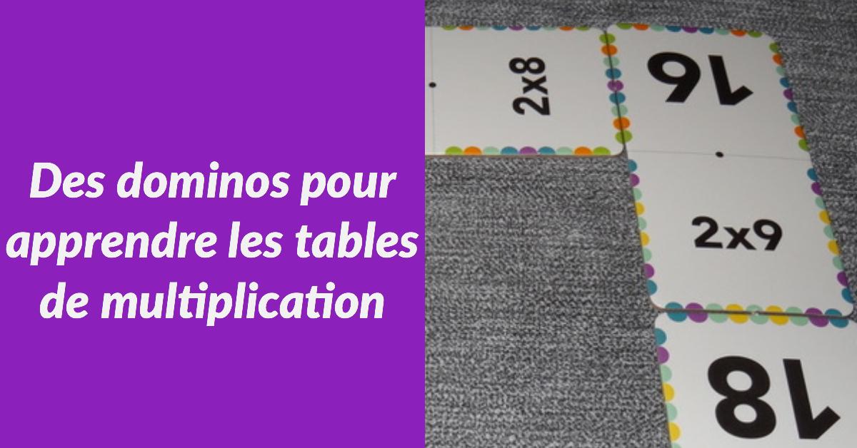 Calculo domino un jeu astucieux pour apprendre les tables de multiplication en s 39 amusant - Domino table de multiplication ...