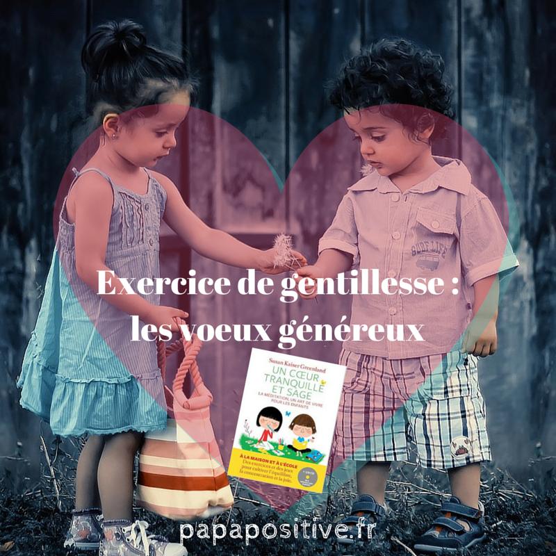 Exercice de gentillesse _ les voeux
