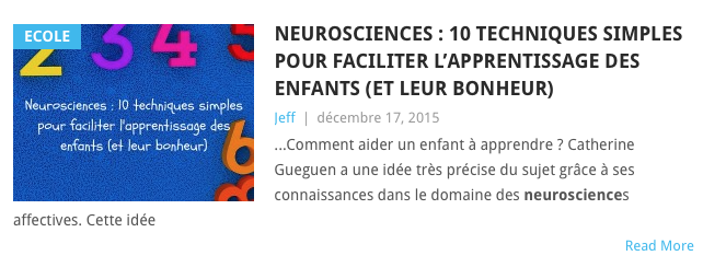 neurosciences apprentissage