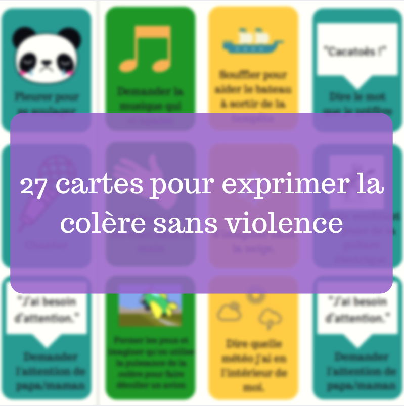 27 cartes pour exprimer la col re sans violence for Des cartons pour demenager