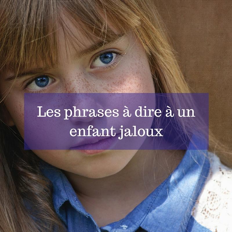Les phrases à dire à un enfant jaloux