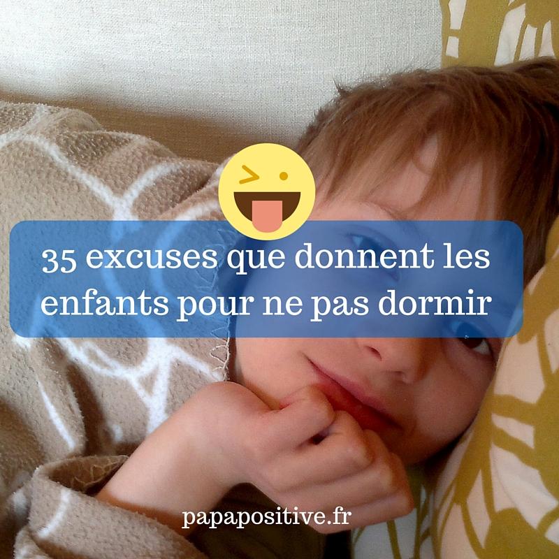 30 excuses que donnent les enfants pour ne pas dormir
