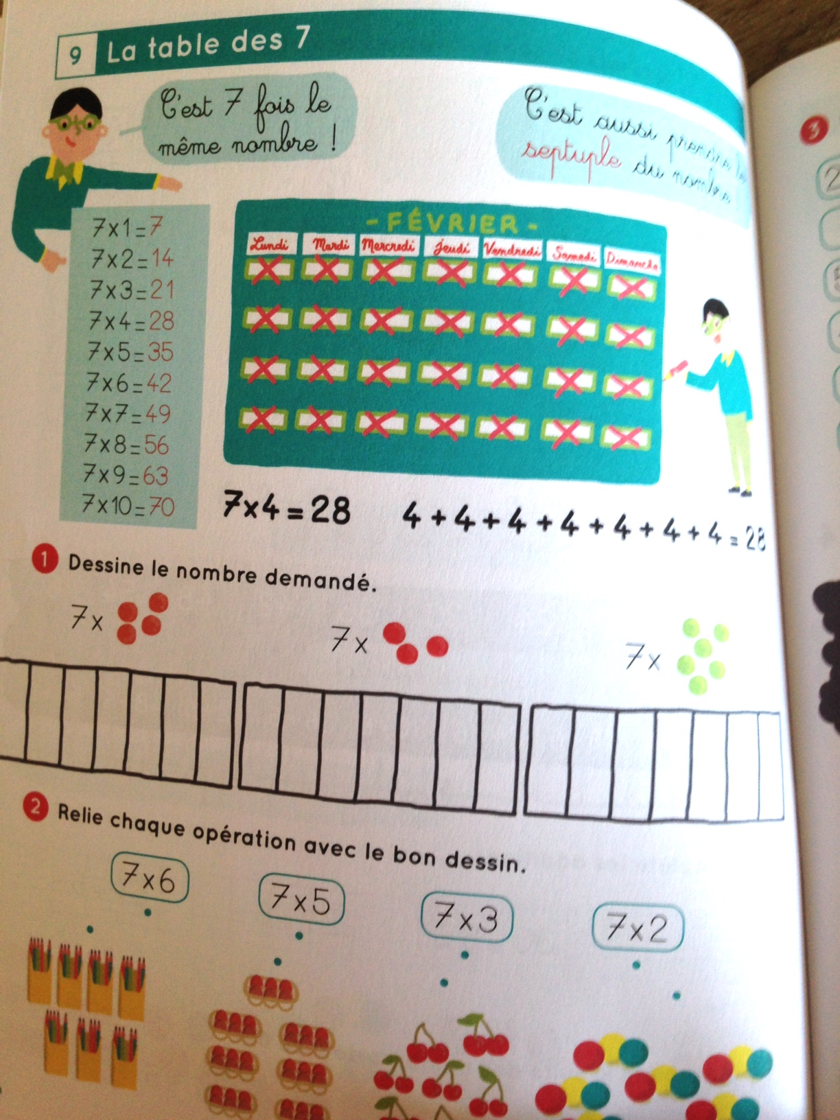 connaitre par coeur ses tables de multiplication