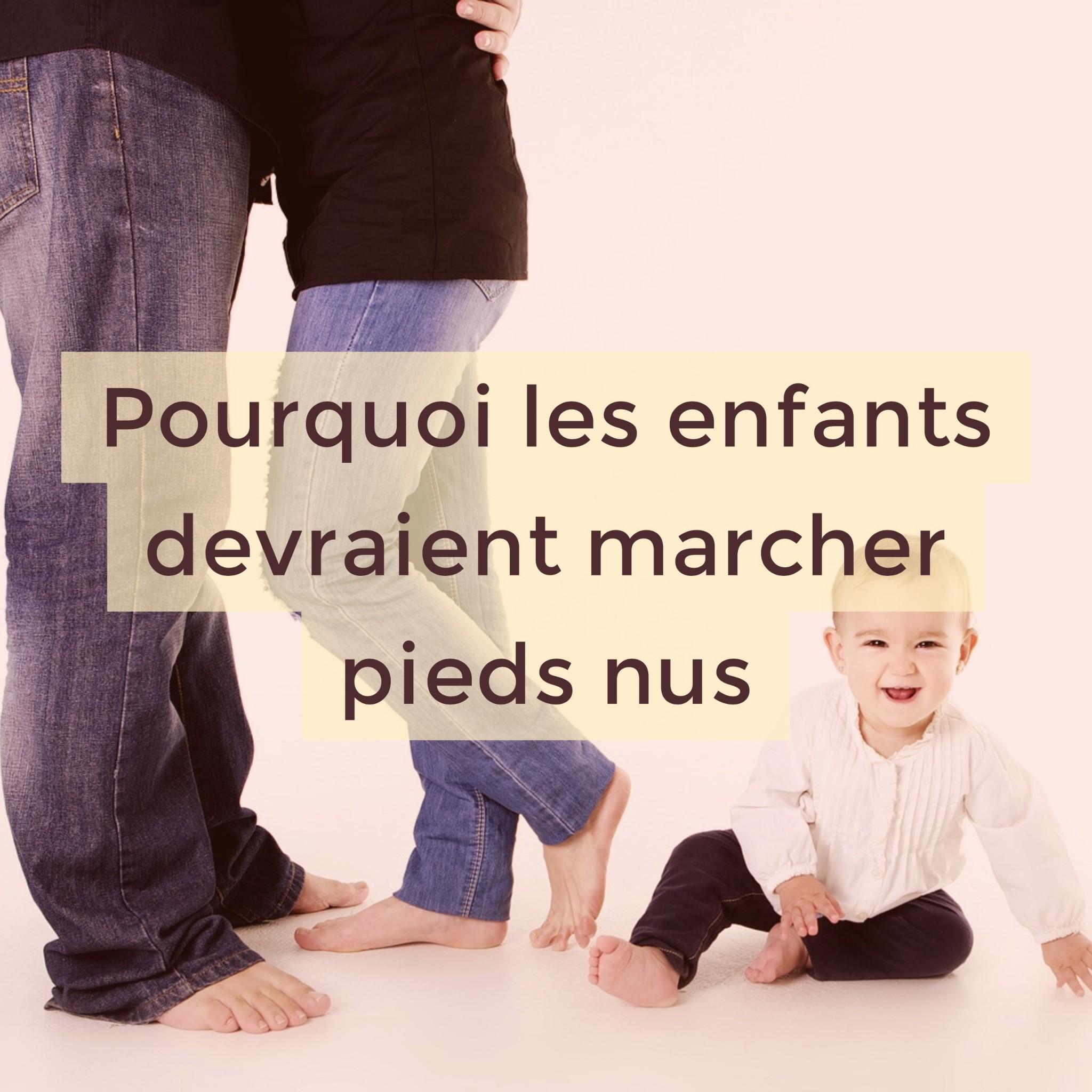 marcher pied nu enfants