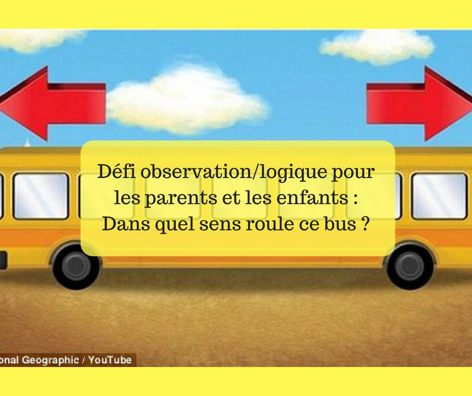 Casse t te dans quel sens roule ce bus 80 des enfants de moins de 10 ans r pondent juste - Dans quel sens dormir ...