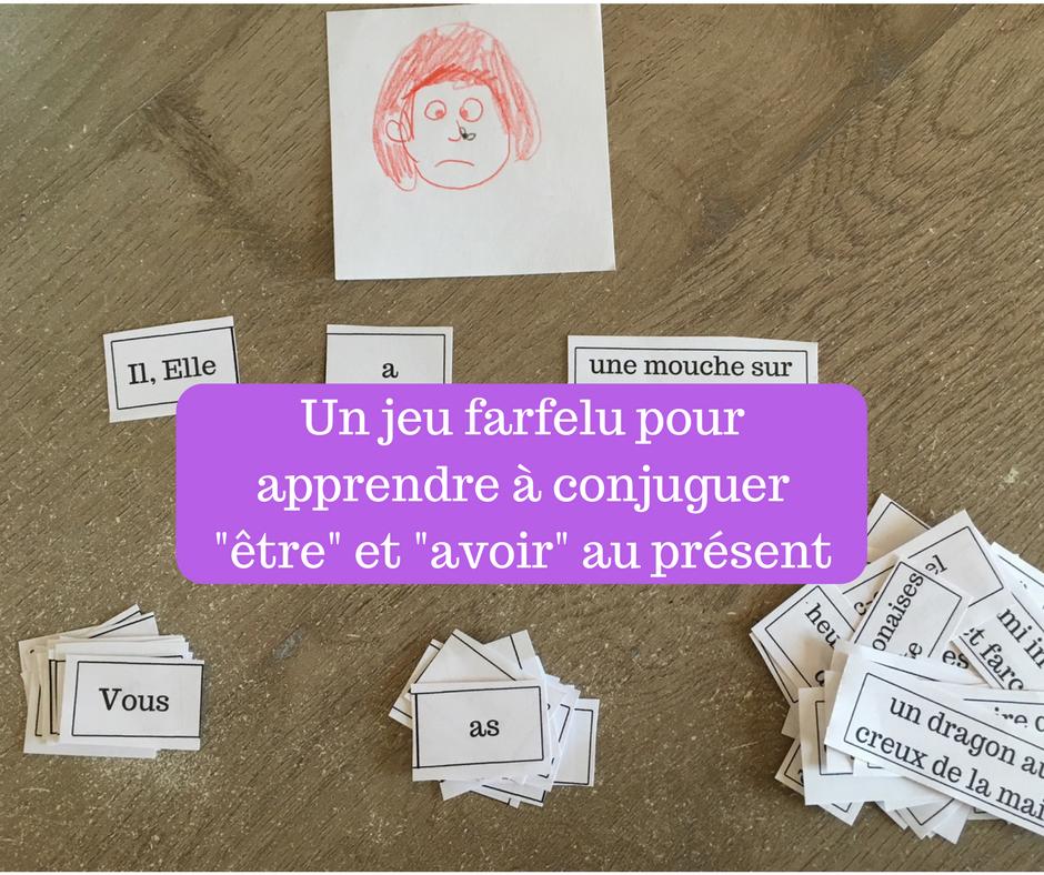 Un Jeu Farfelu Pour Apprendre A Conjuguer Etre Et Avoir Au Present Mime Et Dessine