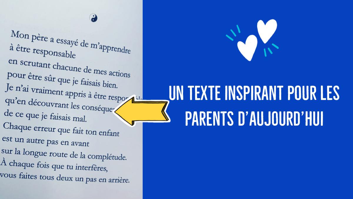 Un Texte à Lire Absolument Sur Le Lâcher Prise Parental Et L