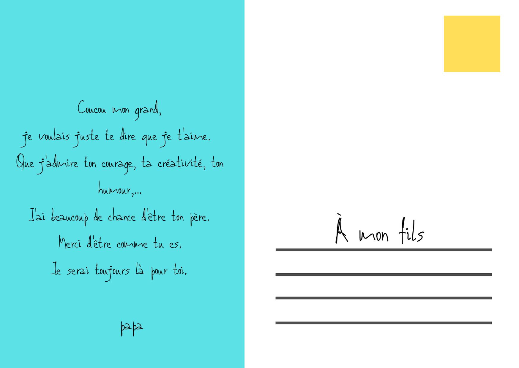 La Carte Postale A Votre Enfant Un Exercice Fabuleux Pour Toute La Famille