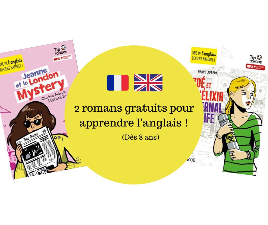 2 romans gratuits pour apprendre l'anglais !