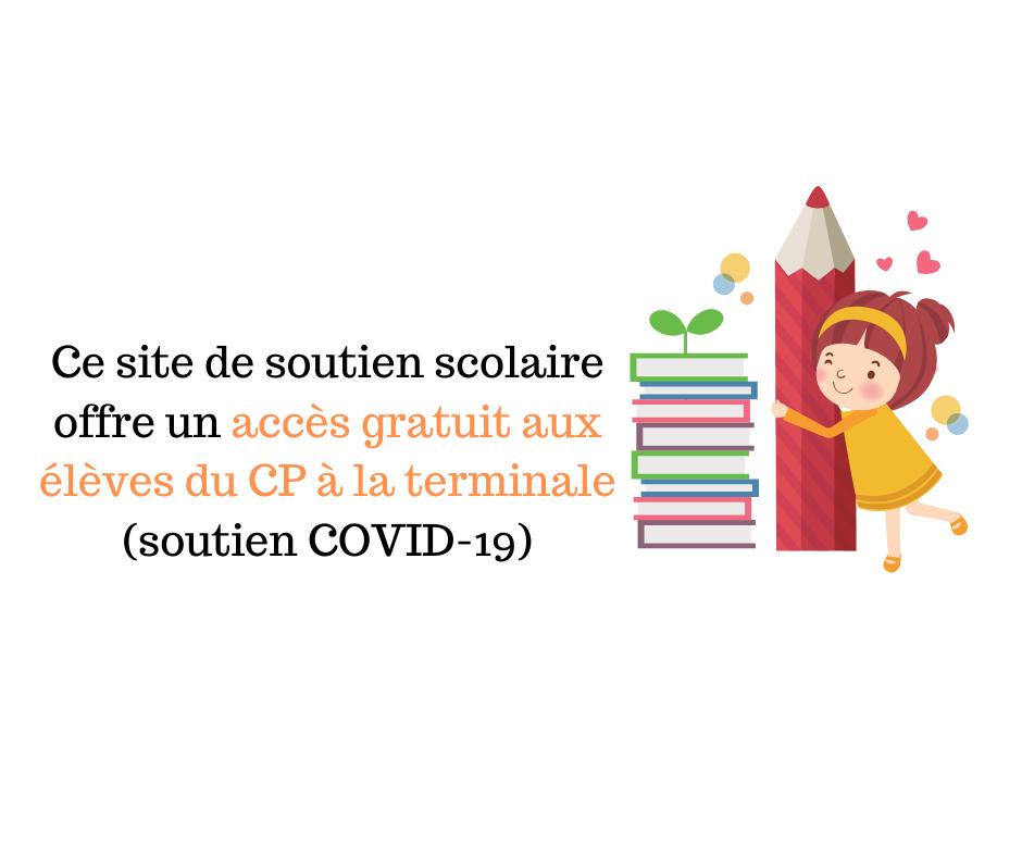 Ce site de soutien scolaire offre un accès gratuit aux élèves (COVID-19)