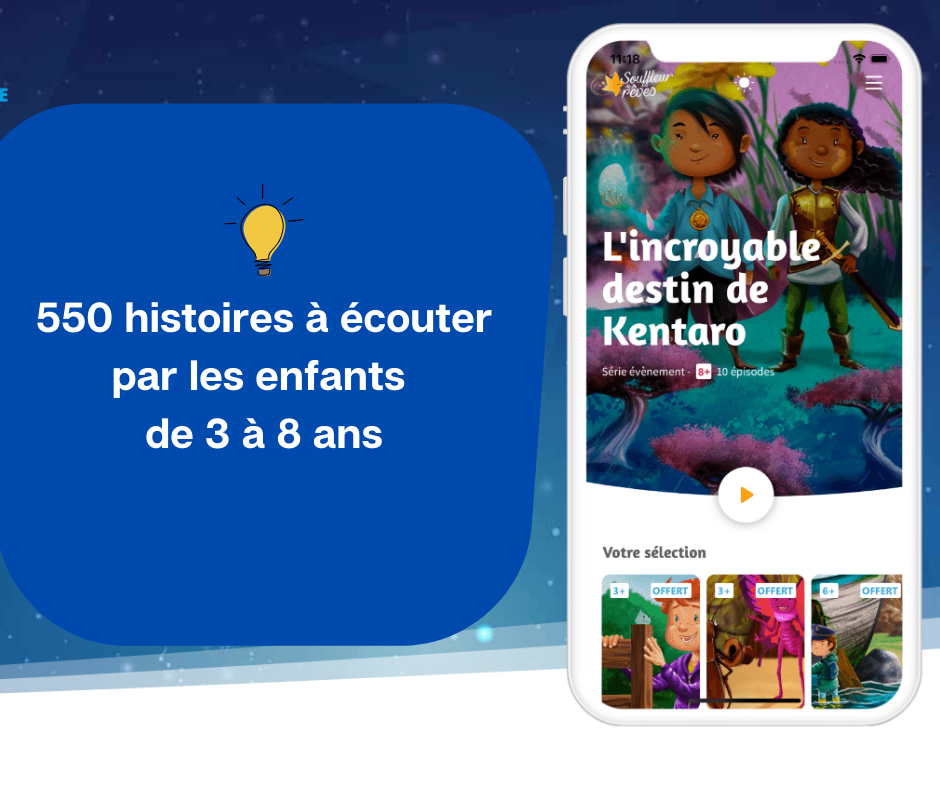 550 histoires à écouter par les enfants de 3 à plus de 8 ans)