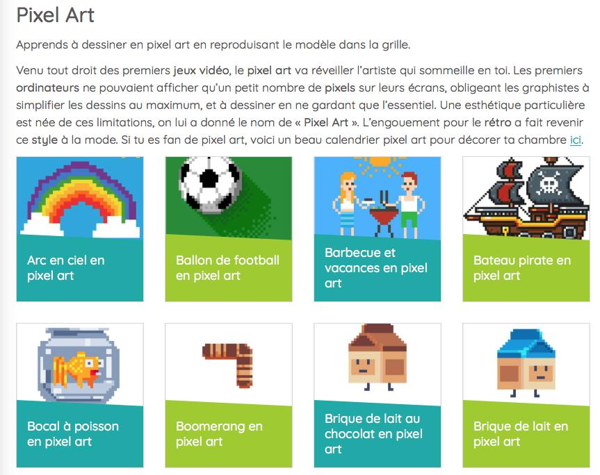 Idee Activite Avec Les Enfants Pixel Art